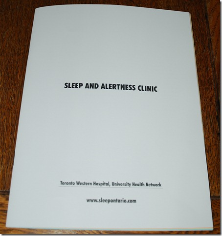 Sleep Questionnaire Shireen Jeejeebhoy 2012-02-28