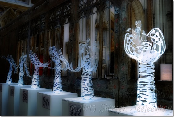 Ramryge angels at Gloucester Cathedral, England