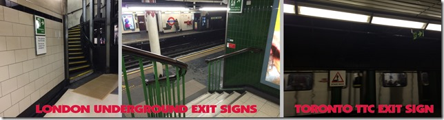 London Underground TTC Exit Signs Collage SOOC Shireen Jeejeebhoy 26-09-2015