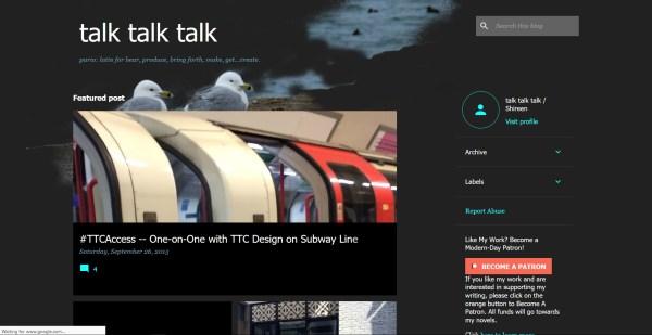Screenshot of political blog talk talk talk