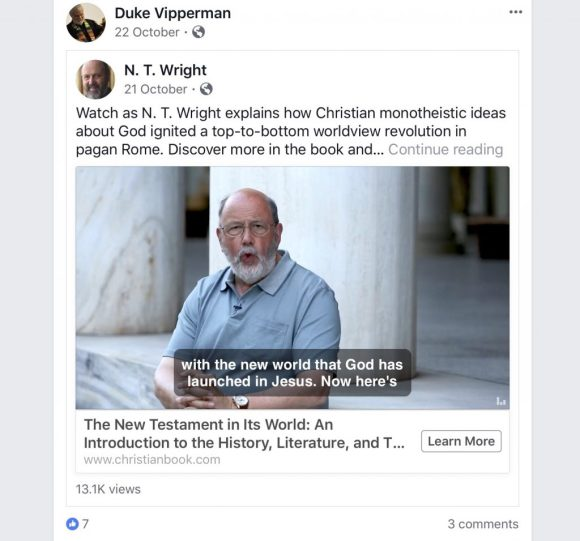 NT Wright The New Testament in Its World