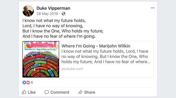 Duke Vipperman FaceBook post 28 May 2019