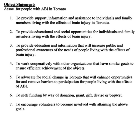 BIST object statement from Ontario ministry