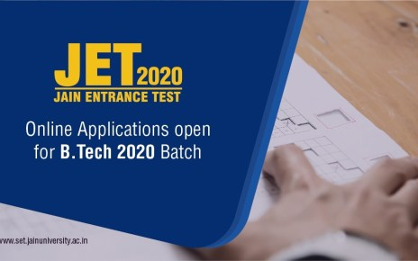 Jain Entrance Test (JET) 2020 for UG & B.Tech Programs