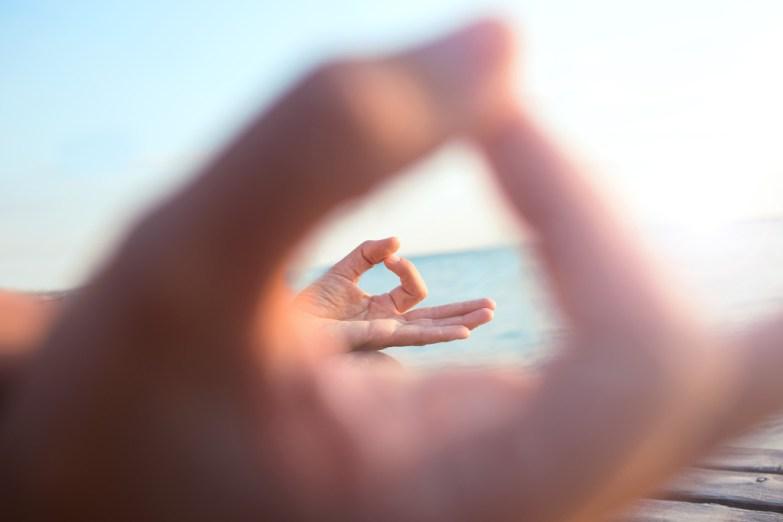meditation hand gesture view
