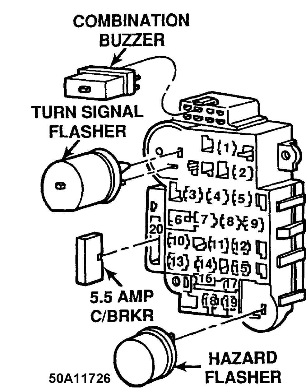 10 fuse panel identification 1992 models courtesy of chrysler corp