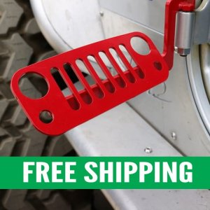 JK Wrangler Foot Pegs Red