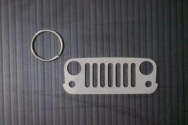 JeepMafia JK Wrangler Keychain with ring