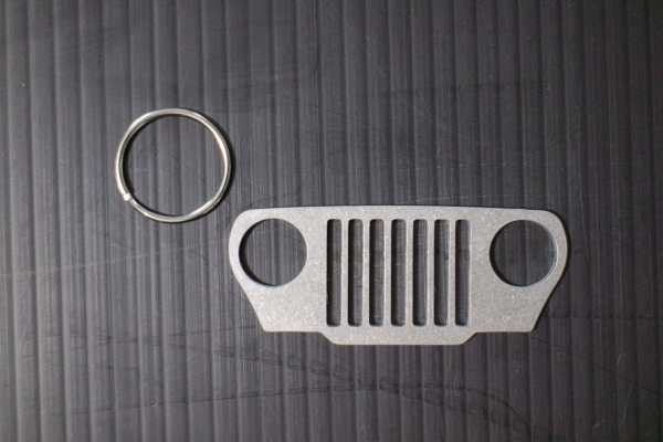 JeepMafia TJ Wrangler Keychain with ring