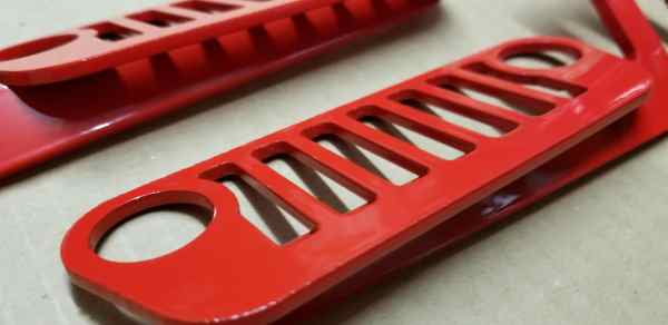 JL Wrangler Jeep Foot Pegs Red Pic 3