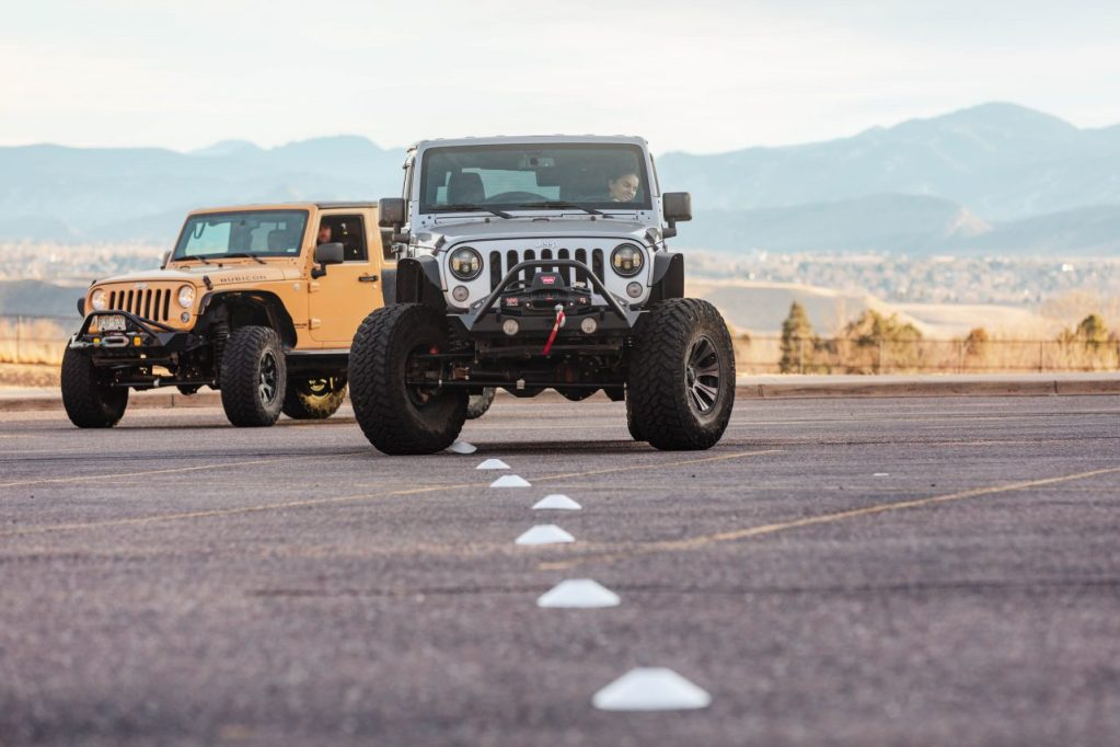 Jeep Tours Colorado by Native Jeeps Parking lot practice