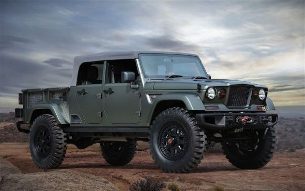 2019 Jeep Wrangler Pickup Truck front