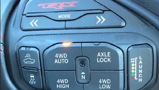 2021 Ram Rebel TRX control panel