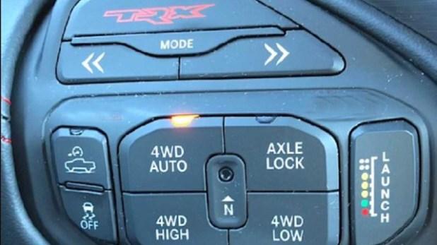 2021 Ram Rebel TRX control panel