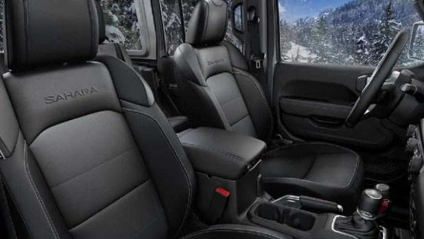 2022 Jeep Wrangler Sahara interior