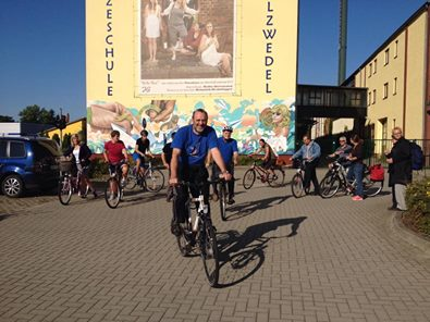 Start in die Vorbereitungswoche - auf dem Rad nach Arendsee. Unsere Herausforderung der ersten Tage.