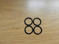 anneau de réglage en métal noir