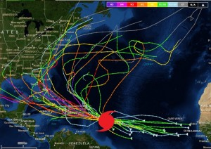 Historical tracks close to Issac