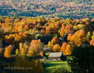 at the southern end of Lake Champlain I found a barn surrounded by glorious reds and golds and oranges of autumn. The tapestry of colors was just incredible