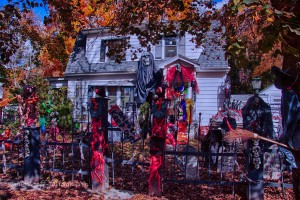 a home haunt done up real well