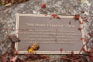 Old Crawford farm grist mill marker