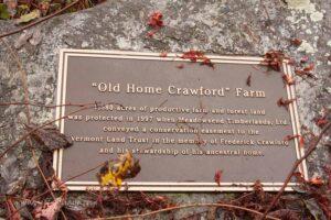 Old Crawford farm grist mill marker