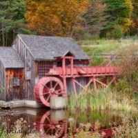 Guildhall Grist mill in fall colors
