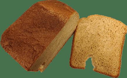 Bacon bread cut