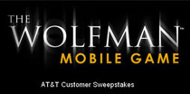 AT&T, Universal Studios and Namco Partnership for The Wolfman Mobile Game website promotion