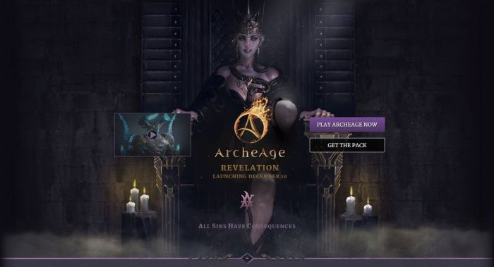 ArcheAge 3.5 Landing page