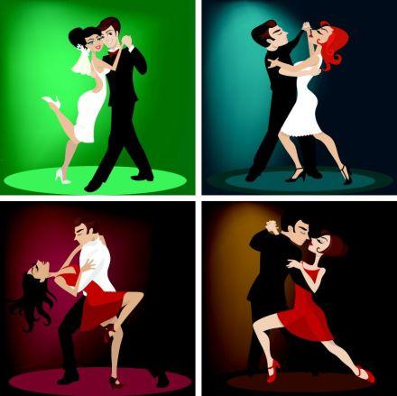 various-dance-couples-cartoon