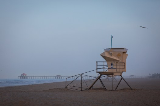 lifeguard stand in Huntington Beach