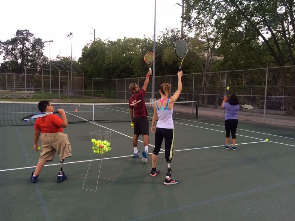 Amputee Tennis Practice
