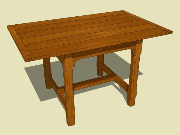 Woodworking Plans Extension Dining Table