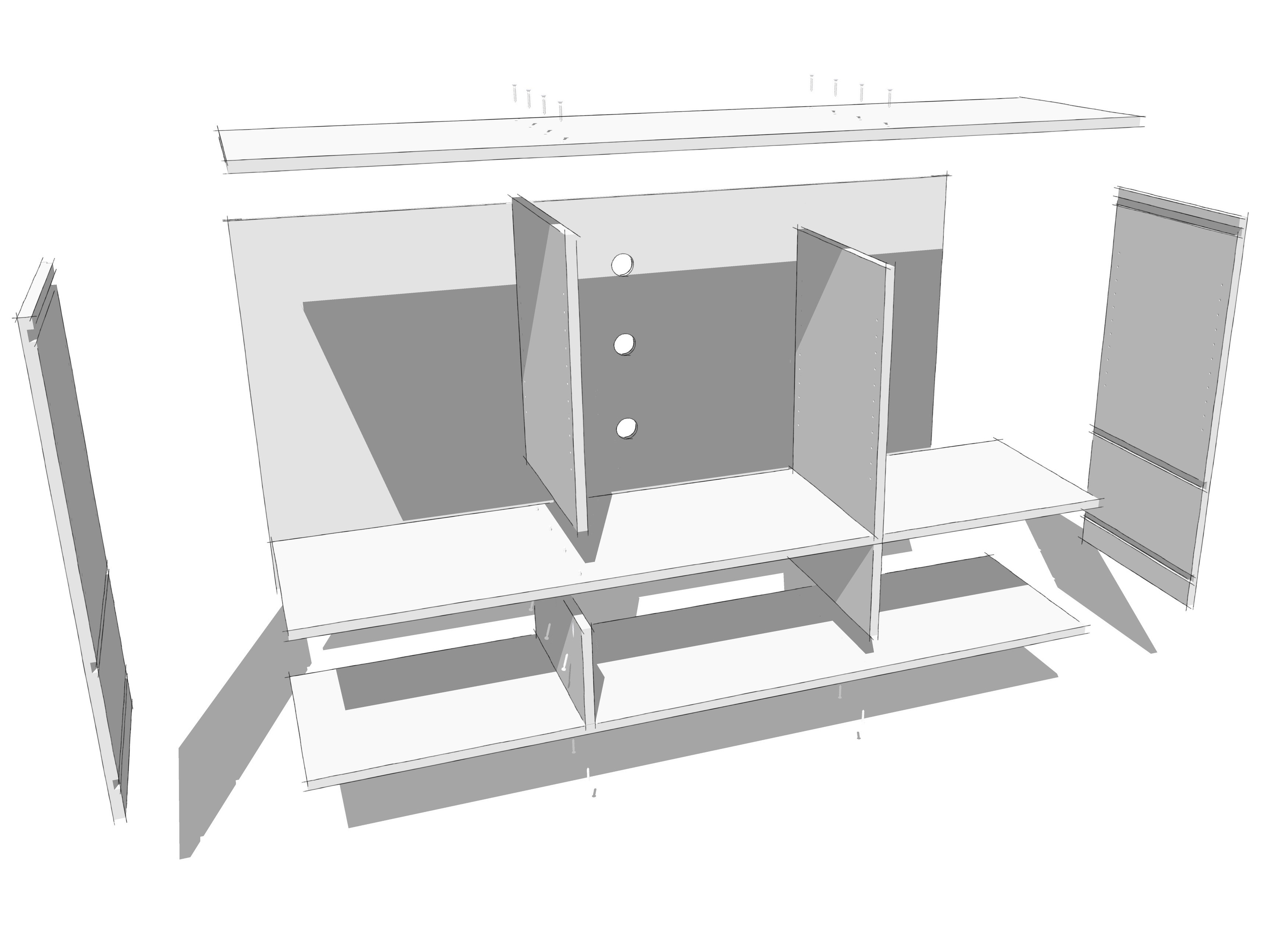 Best Kitchen Gallery: Experimenting With Sketchy Edges Jeff Branch Woodworking of Kitchen Cabinet Exploded View on rachelxblog.com