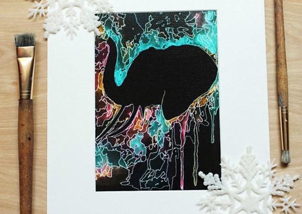 Elephant Psychedelic Wall Art