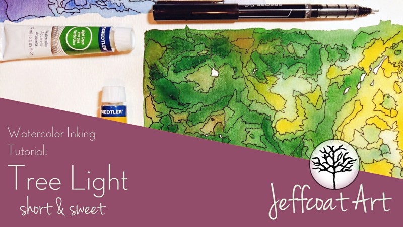 Tree Light Watercolor Inking Tutorial by Jeffcoat Art