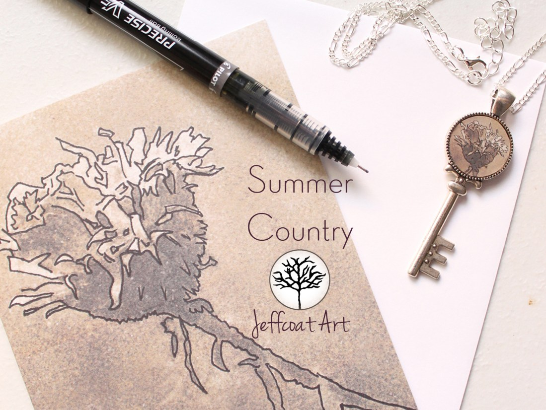 Artistic inkings turned into jewelry and other art gifts by Jeffcoat Art