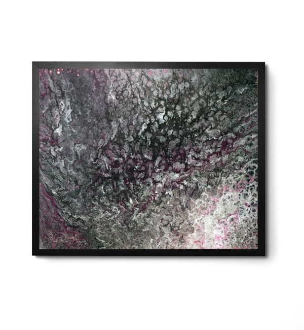 Smoke and Ash Acrylic Pour print by Jeffcoat Art