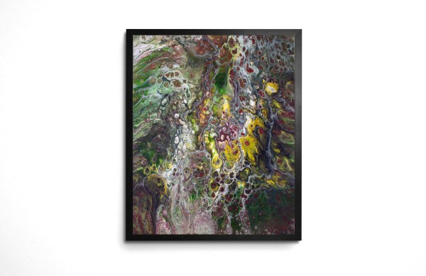 Solitude Acrylic Pour art print by Jeffcoat Art