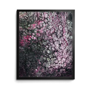 Night Blooming Thing Acrylic Pour print by Jeffcoat Art