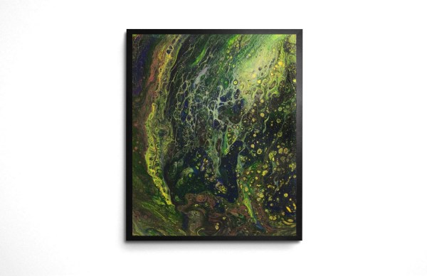 Tell Me a Story acrylic pour print by Jeffcoat Art