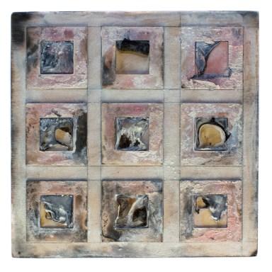 Untitled - Cradled Wood Panel - 35mm Slides - Encaustic - 8x8x1 inches - 2015