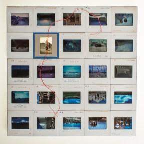 Cradled Wood Panel - 35mm Slides - Thread - 10x10x1 inches - 2016