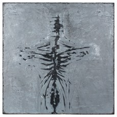 Figure #8 - Cradled Wood Panel - Encaustic - Cinders - Ash - 24x24x1 inches - 2017