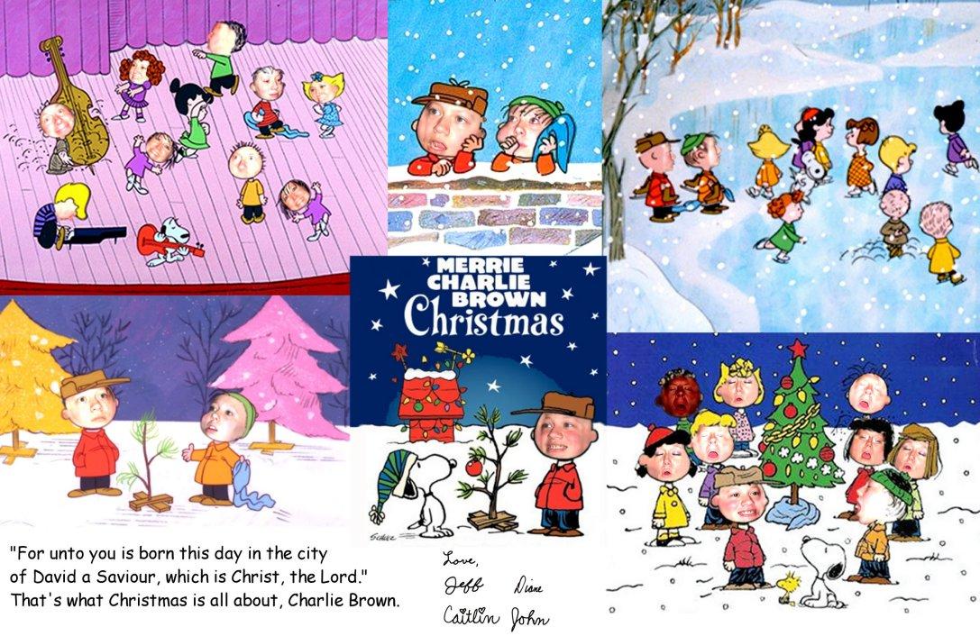 Charlie Brown Christmas Cards Christmas Lights Card And