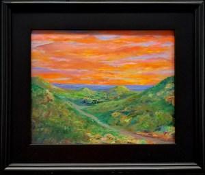 Sunset over Wimberley - $300, Oil 11x14