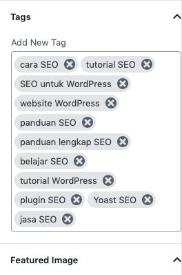 optimasi SEO melalui tags di WordPress