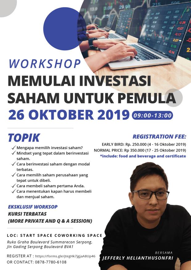 workshop investasi saham pemula