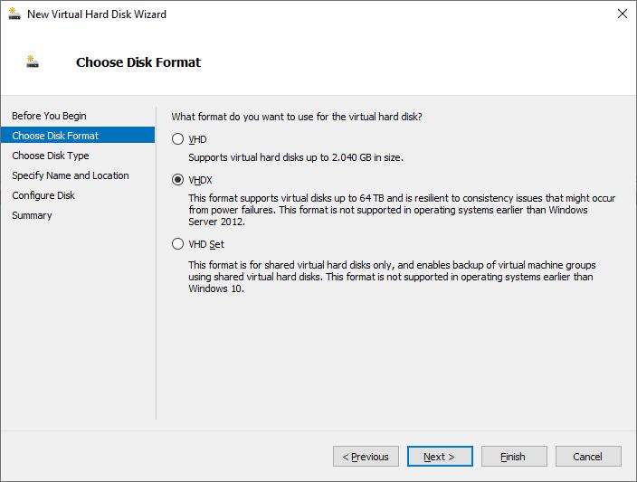 """Criando um disco """"Fixed"""" no Hyper-V Server 2019"""